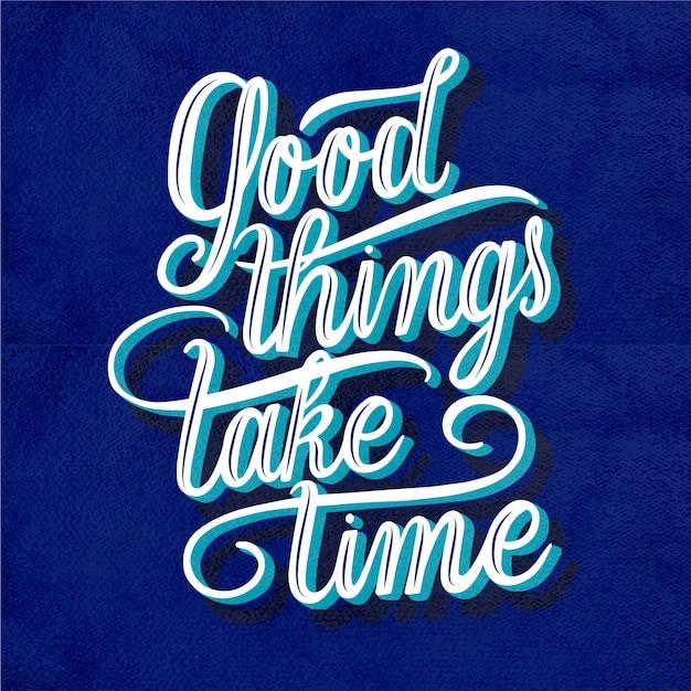 Mensagem positiva em estilo vintage Vetor grátis