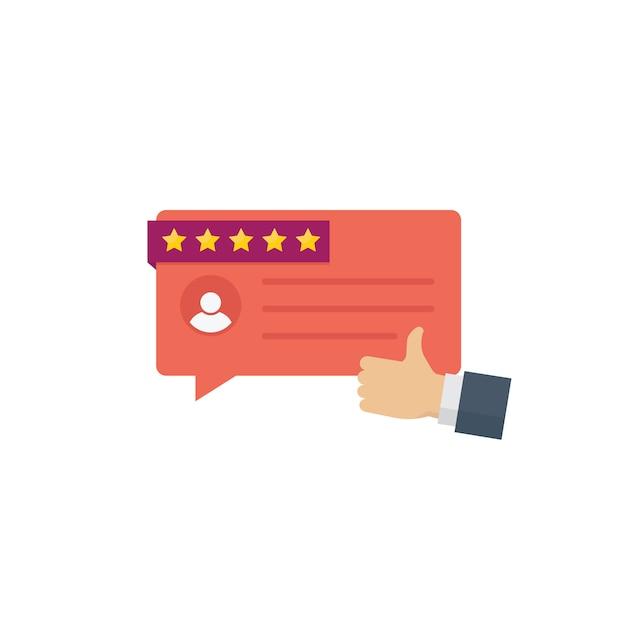 Mensagens de depoimento de clientes Vetor Premium