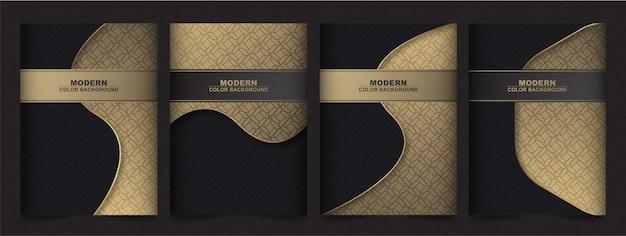 Menu de capa premium de luxo geométrico Vetor Premium