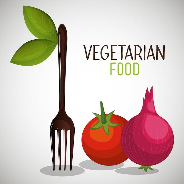 Menu de comida vegetariana Vetor grátis