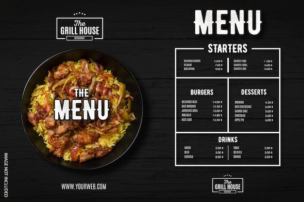 Menu de restaurante moderno com modelo de design profissional Vetor grátis