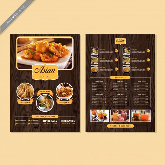 Menu do restaurante reservar Vetor Premium