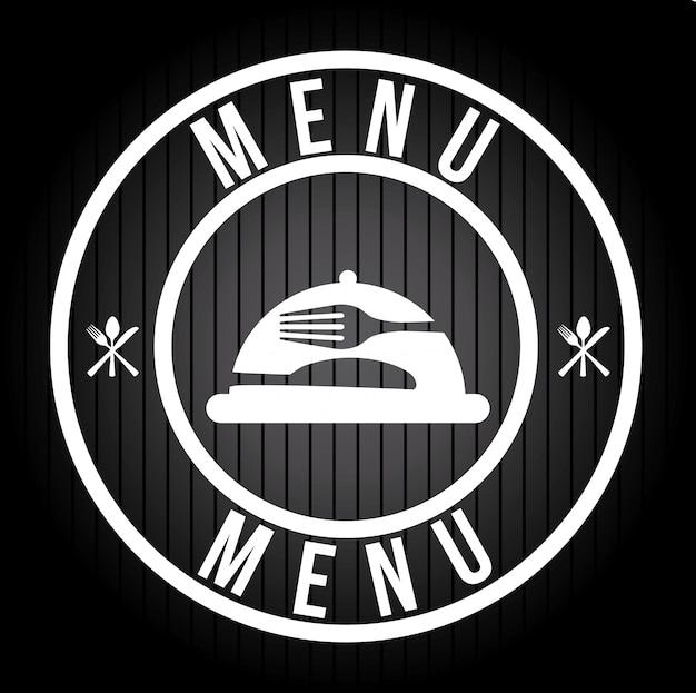 Menu logotipo design gráfico Vetor grátis