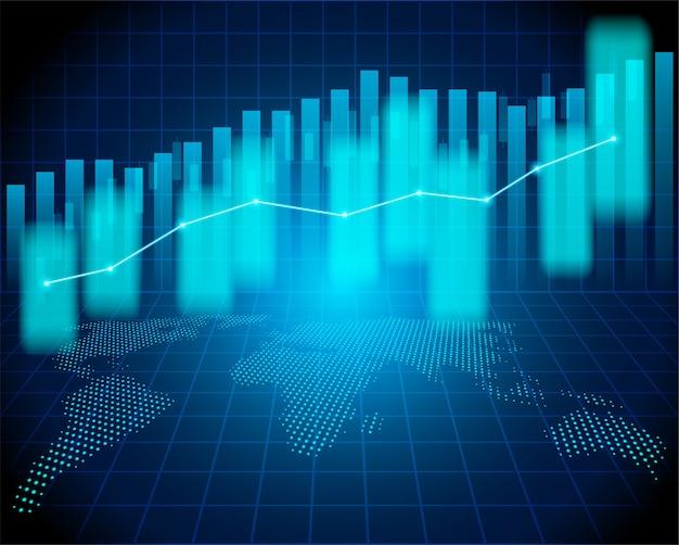 Mercado de ações e troca de mundo. Vetor Premium