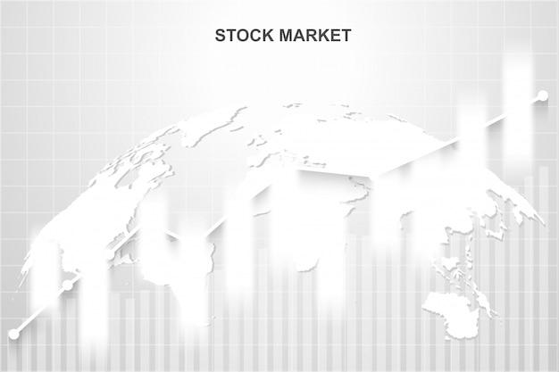 Mercado de ações e troca de mundo Vetor Premium