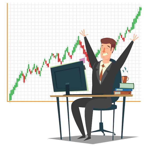 Mercado de ações, investimento e negociação | Vetor Premium