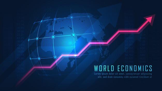 Mercado de ações ou gráfico de negociação forex Vetor Premium