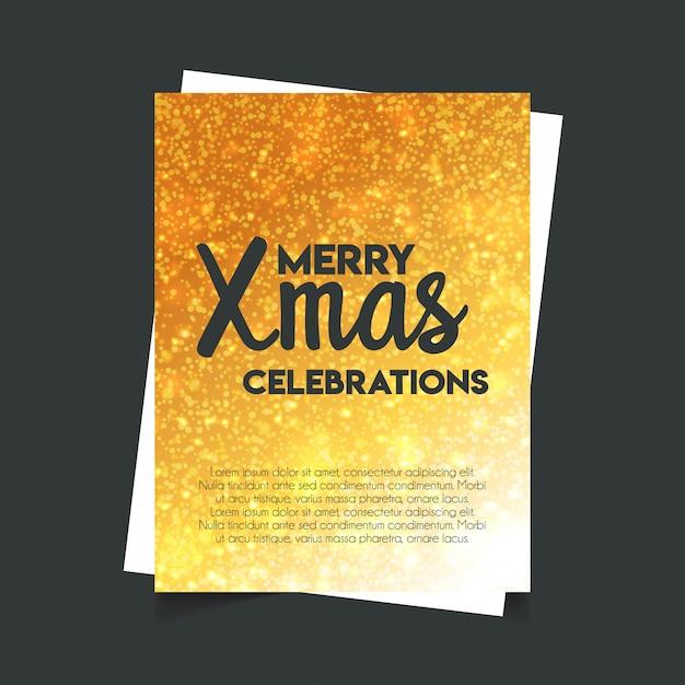 Merry xmas celebration glitter fundo Vetor grátis