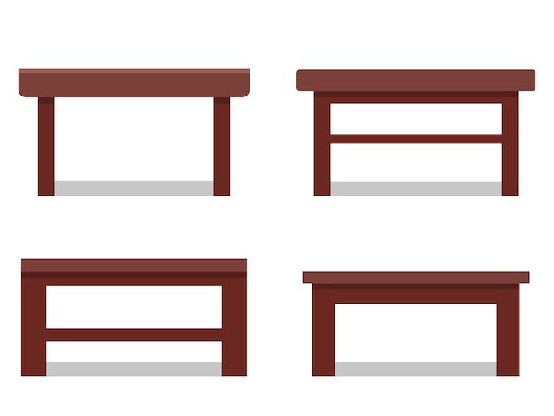 Mesas de café no apartamento. ícone. móveis para sala de desenho animado. Vetor Premium