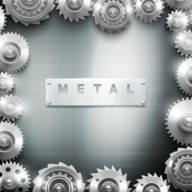 Metal moderno do quadro do maquinismo de relojoaria da roda denteada decorativo para a galeria interior do fundo ou de arte Vetor grátis