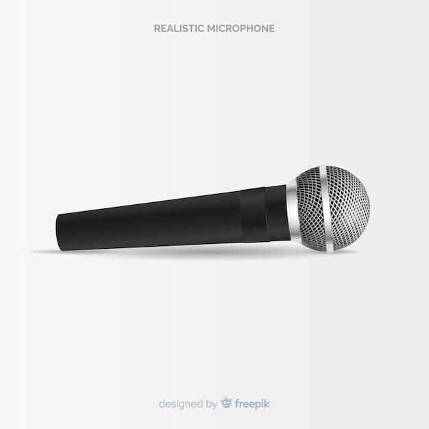 Microfone moderno realista Vetor grátis