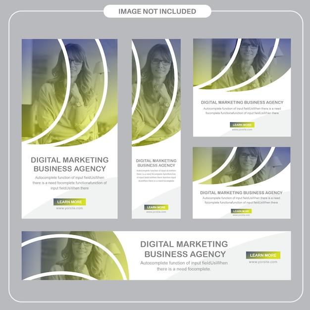 Mídia social corporativa e postagens de anúncios Vetor Premium