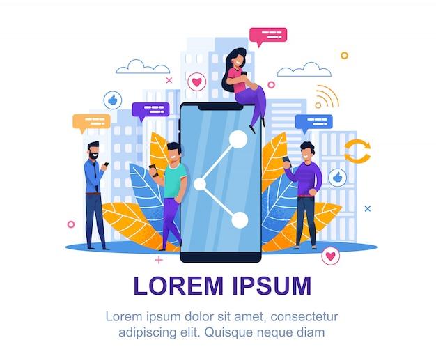 Mídia social. design de marketing de coleção moderna. Vetor Premium