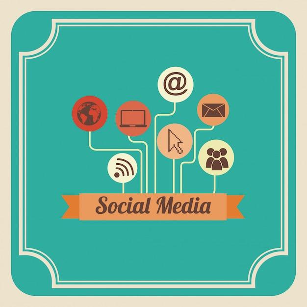 Mídia social Vetor grátis