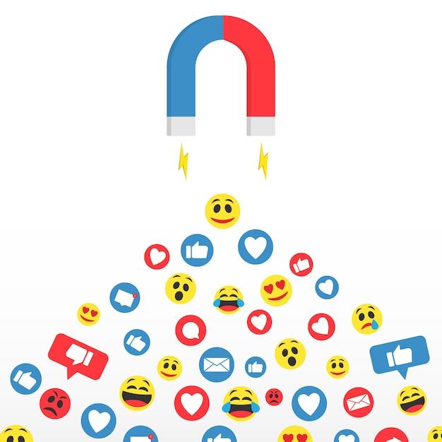Mídia social Vetor Premium
