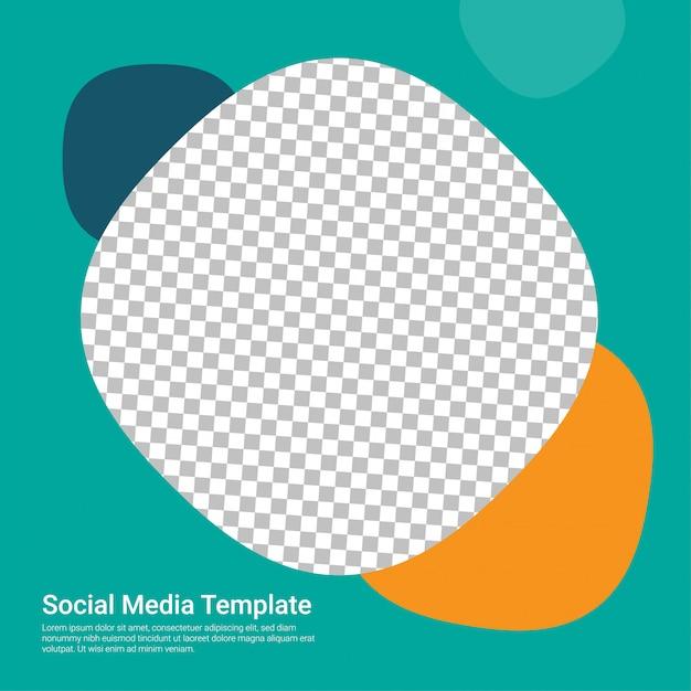 Mídias sociais abstratas verdes Vetor Premium