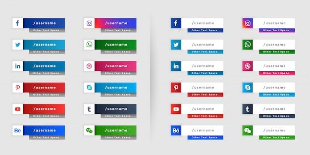 Mídias sociais populares baixam o terceiro design de banner da web Vetor grátis