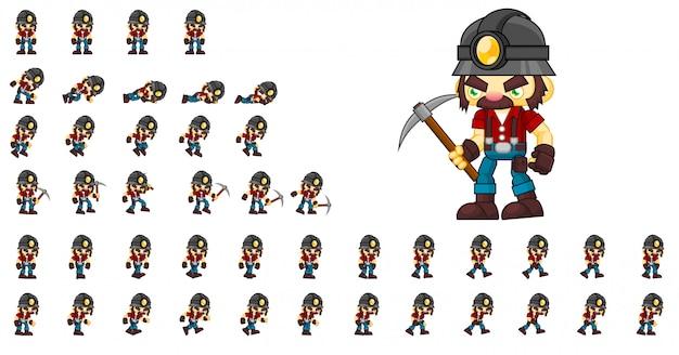 Mineiro game character Vetor Premium