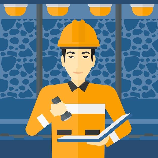 Mineiro, verificação de documentos. Vetor Premium