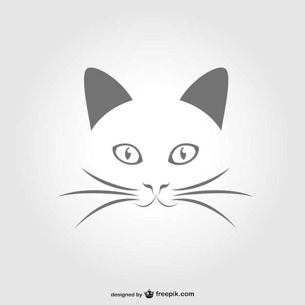 Mínima gato retrato vetor Vetor grátis