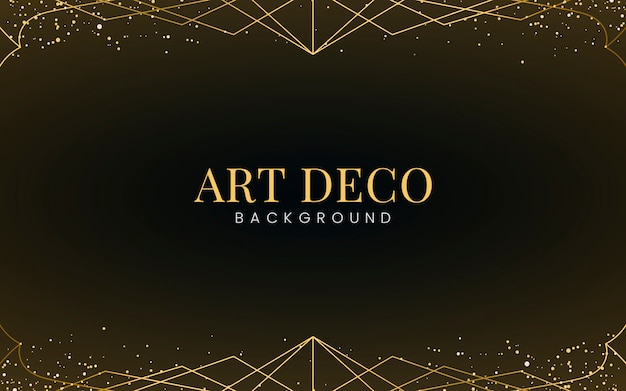 Minimal art deco wallpaper com glitter dourado decorativo Vetor grátis