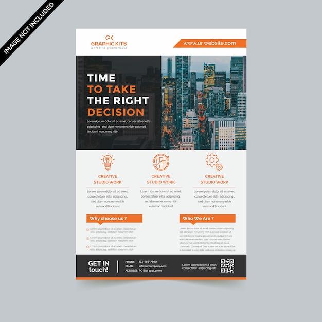 Minimal business flyer premium Vetor Premium
