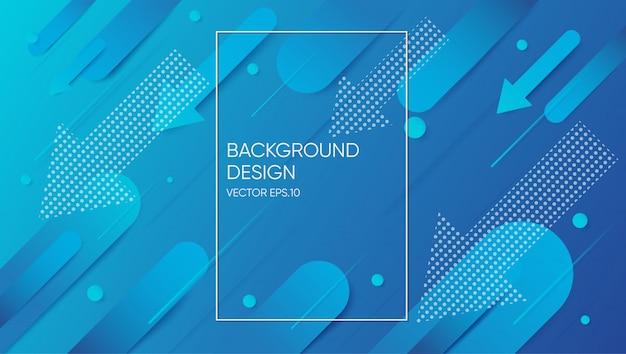 Mínimo geométrico. composição de formas dinâmicas. fundo gradiente abstrato. Vetor Premium