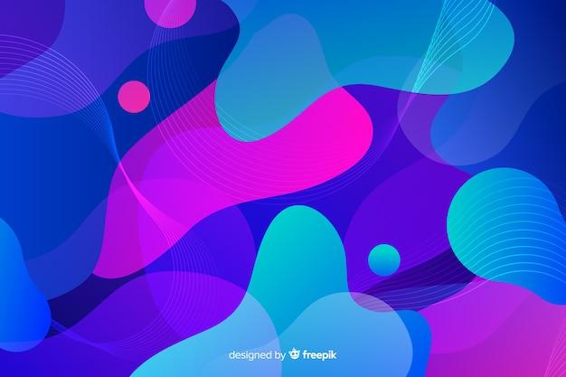 Mistura de formas líquidas de gradiente colorido Vetor grátis