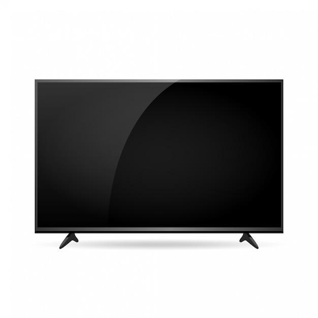 Mock-up de tela de tv inteligente de vetor Vetor Premium