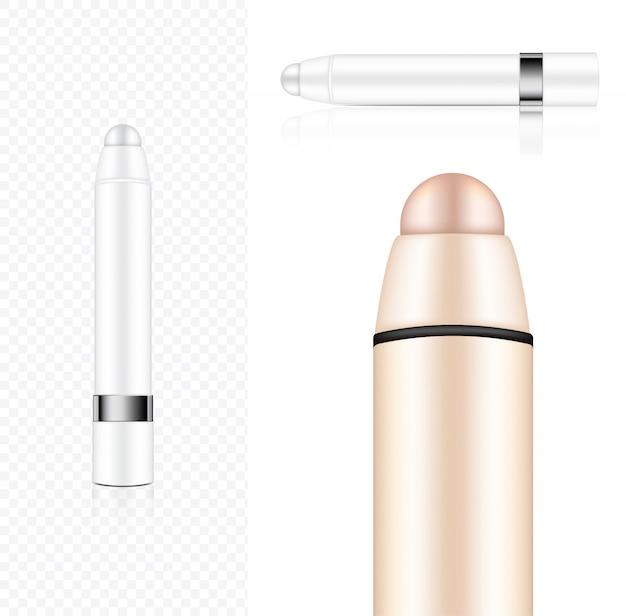 Mock up realistic cosmetic lipstick pencil Vetor Premium