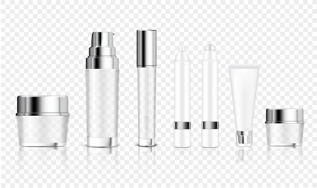 Mock up realistic transparent bottle Vetor Premium