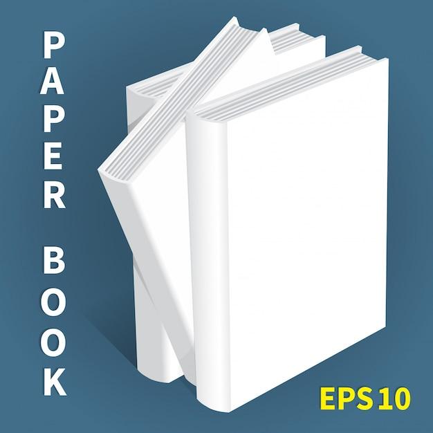 Mock-ups de livros de papel Vetor Premium
