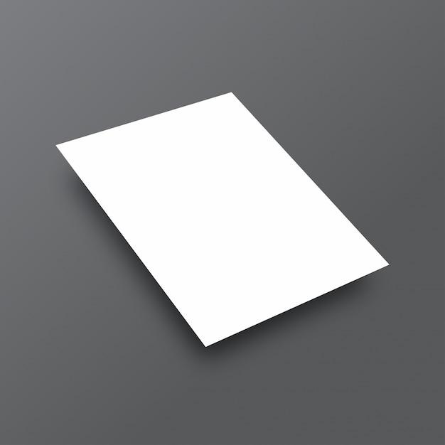 Mockup branco simples Vetor grátis