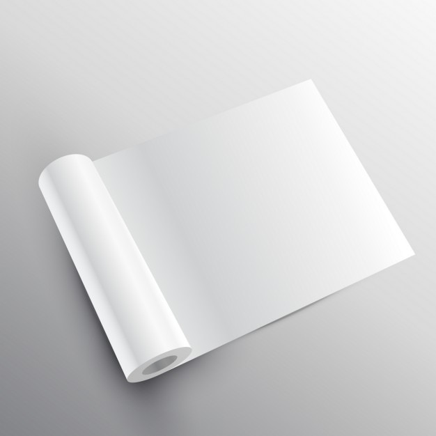Mockup rolo de papel no estilo 3d Vetor grátis