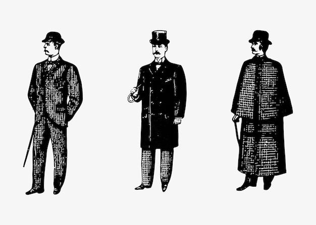 Moda cavalheiro do passado Vetor grátis