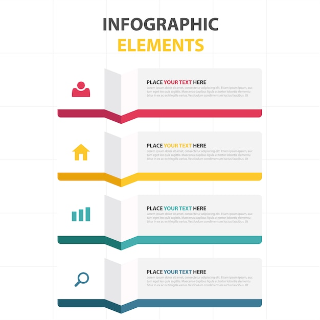 Modelo abstrato colorido do infographic do negócio Vetor grátis