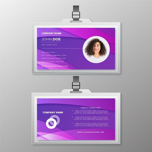 Modelo abstrato com foto para carteiras de identidade Vetor grátis