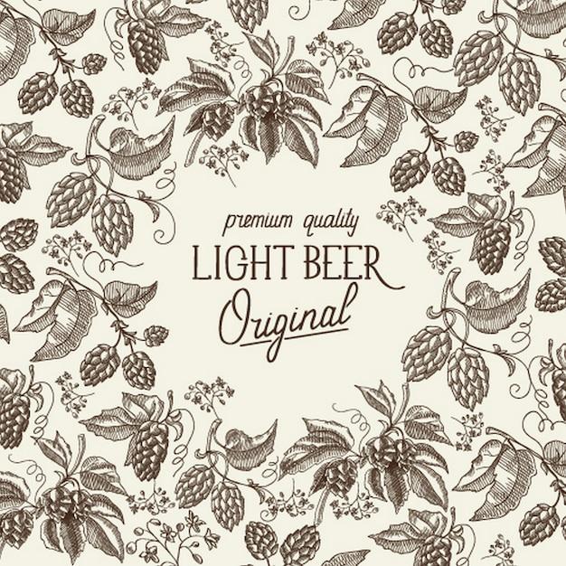 Modelo abstrato de cerveja light Vetor grátis