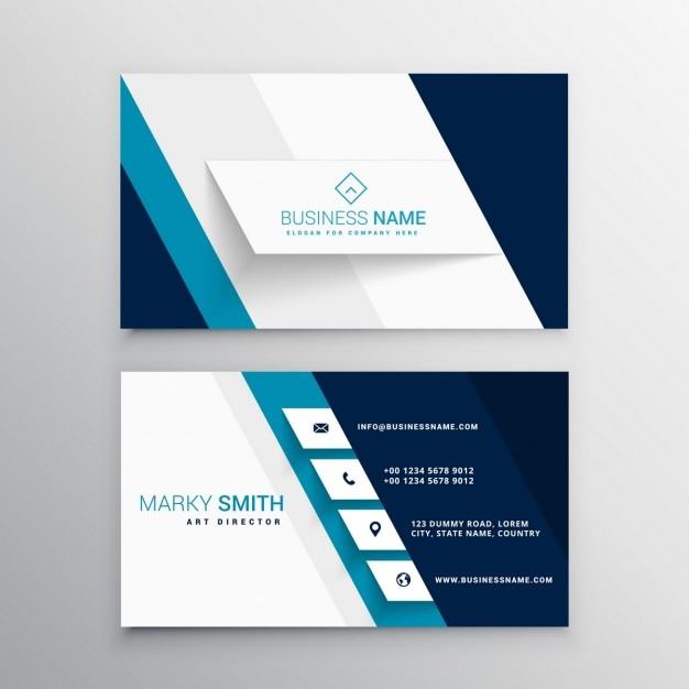 Modelo Azul E Branco Cart 227 O De Visita Moderno Baixar