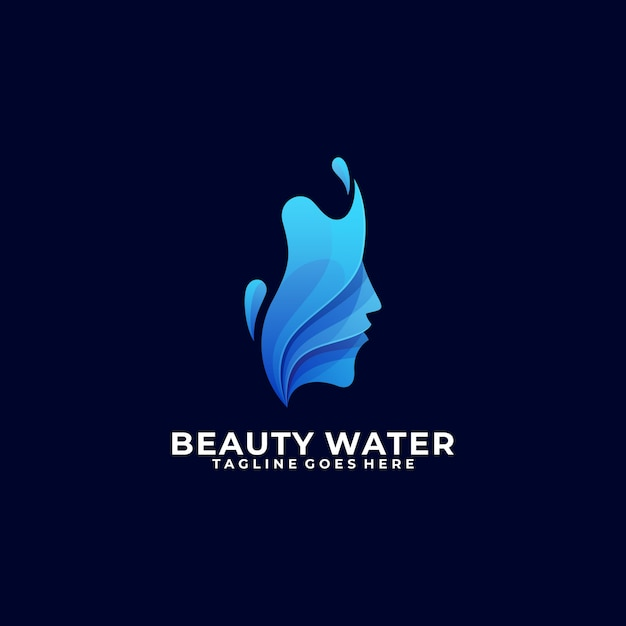 Modelo colorido de água de beleza Vetor Premium
