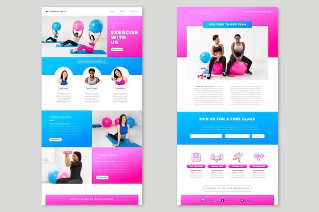 Modelo criativo de e-mail de fitness com fotos Vetor grátis