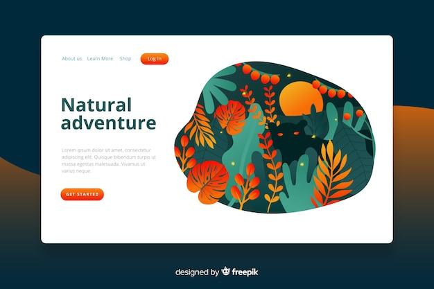 Modelo da página de destino da natureza Vetor grátis