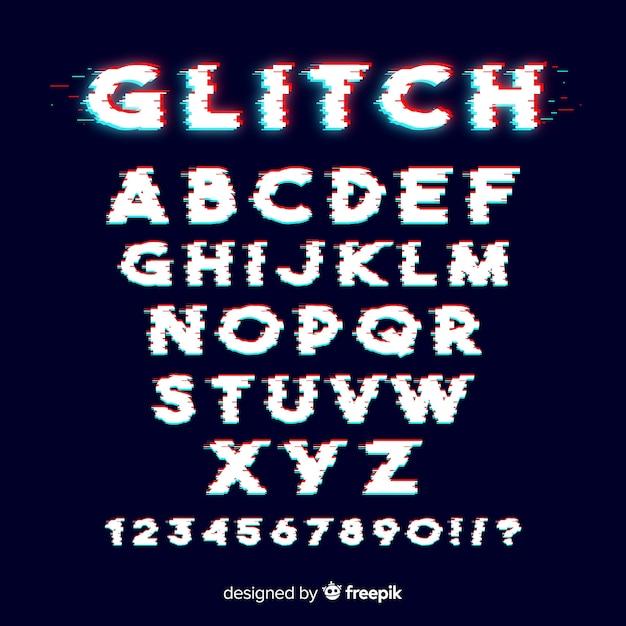 Modelo de alfabeto de falha Vetor grátis