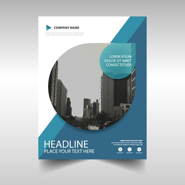 Modelo de anúncio azul da capa do livro relatório anual Vetor grátis