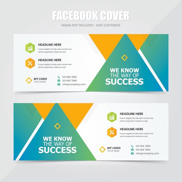 Modelo de anúncio - banner social da capa do facebook Vetor Premium