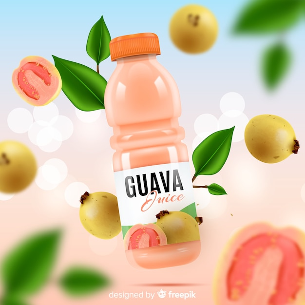 Modelo de anúncio de suco de fruta Vetor grátis