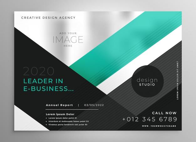 Modelo de apresentação de brochura de negócios geométricos turquesa Vetor grátis