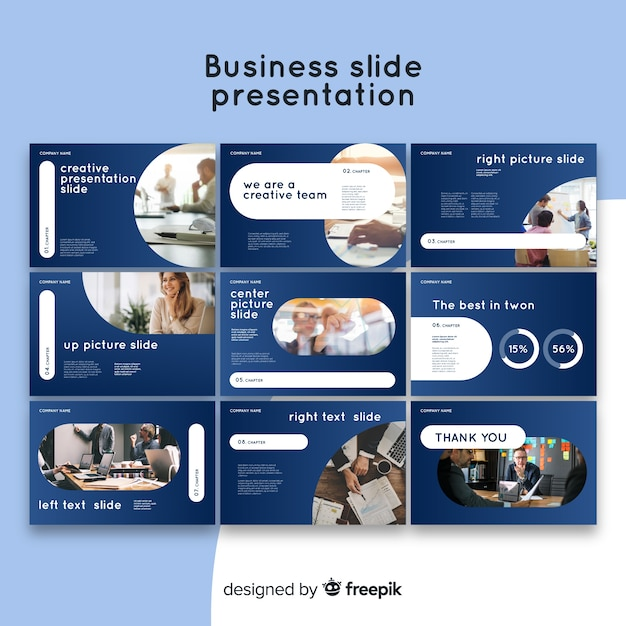 Modelo de apresentação de slides de negócios Vetor grátis