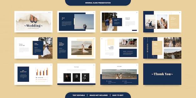 Modelo de apresentação de slides mínimos Vetor Premium