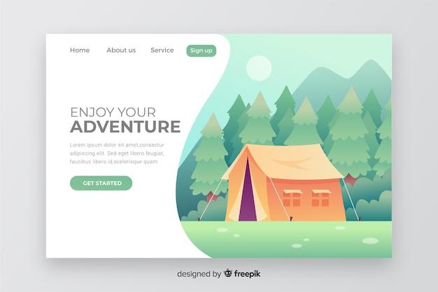 Modelo de aventura da página de destino Vetor grátis